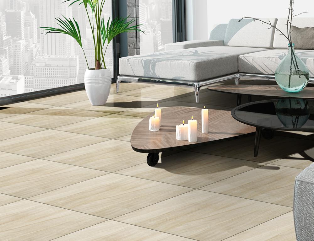 Ambiente piso sala 56009 eco wood bege grupo cristofoletti for Pisos para comedor porcelanato