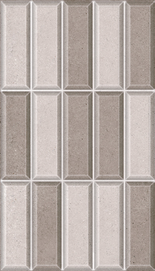Wall tile HD3284 Brick Chrome Cinza Mescla