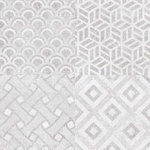 Floor tile R55106 Litos Gray Patchwork