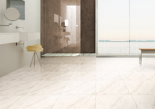 Ambiente banheiro porcelanato 61015 Savoie Beige Brilho