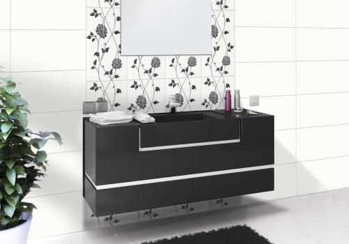Ambiente revestimentos 32001 Classic Bianco e HD3271 Flowers Black