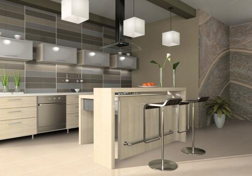 Ambiente cozinha porcelanato 61005 Marmo Capri