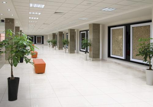Ambiente comercial porcelanato 61516 Tecno Bianco