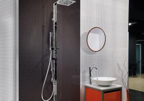 Ambiente banheiro HD3247 Vitro Nero e HD3250 Vitro Bianco