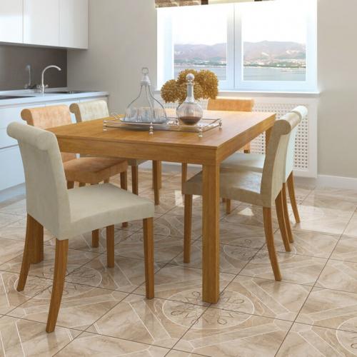 Ambiente sala de jantar piso 45706 Onix Geometric