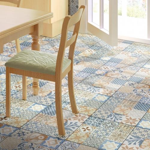 Ambiente piso 56018 Patchwork Floor Brilho