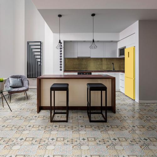 Ambiente cozinha do piso 56045 Patchwork marfil