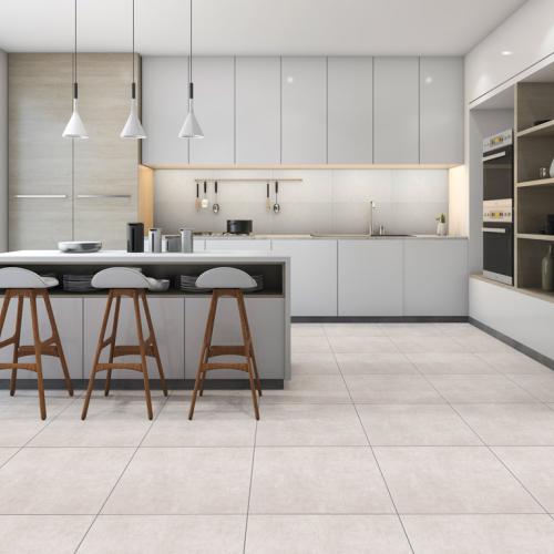Ambiente cozinha do piso 56078 Cimento grigio urban e Realce HD 31180 South