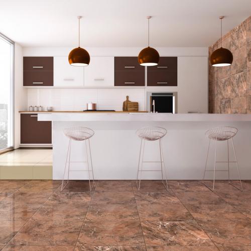 Ambiente cozinha do piso 56095 Marrom imperial