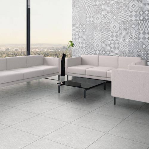Environment floor tile 56104 Litos Gray and Wall tile 56106 Litos Gray Petchwork