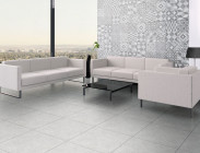 Environment floor tile 56104 Litos Gray and Wall tile 56106 Litos Gray Petchwork
