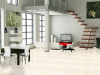 Ambiente sala porcelanato 61001 Travertino Beige